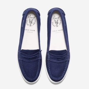 Cole Haan Navy Pinch Canvas Loafers